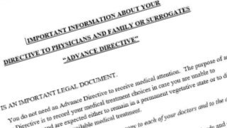Advance Directive to Physicians and Family or Surrogates