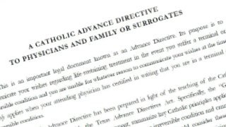 Catholic Advance Directive to Physicians and Family or Surrogates