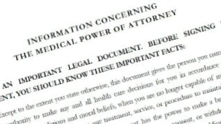 Catholic Medical Power of Attorney legal document