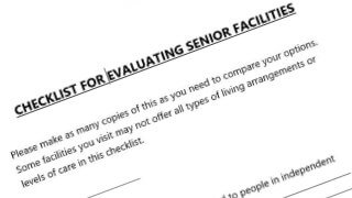 Resources for evaluating nursing homes and assisted living facilities for senior care
