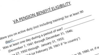 a checklist to determine VA pension benefit eligibility